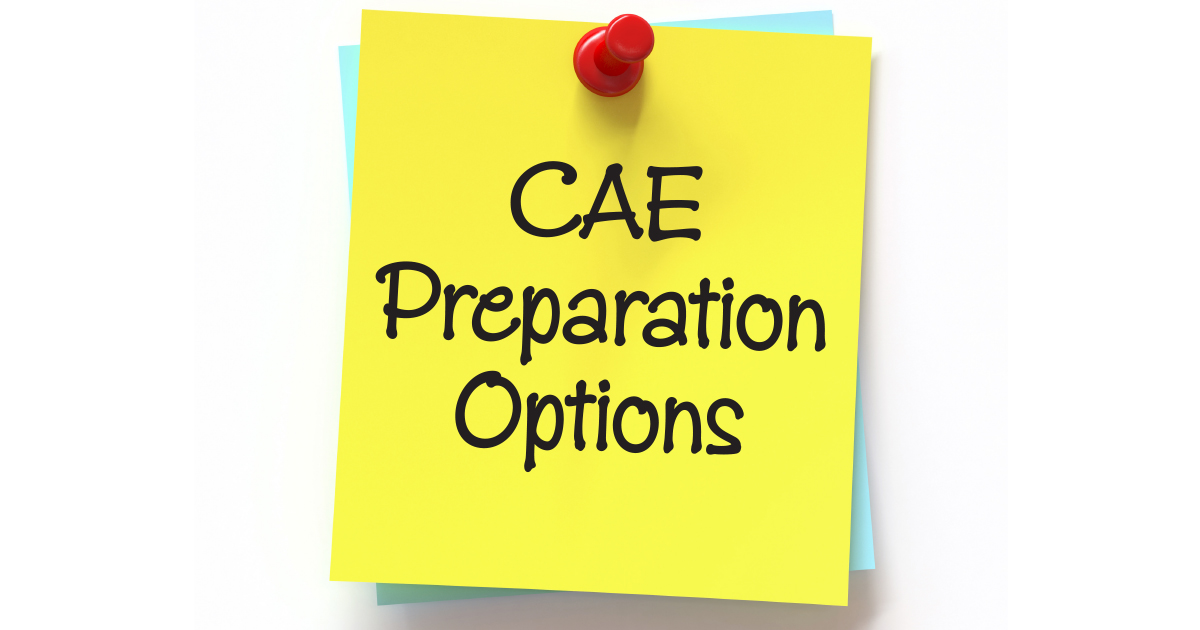 The Landscape of CAE Preparation Options