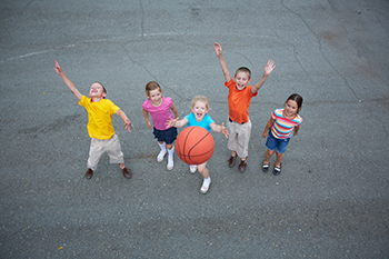 basketball kids playing member engagement